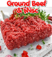 GROUND BEEF & MISC